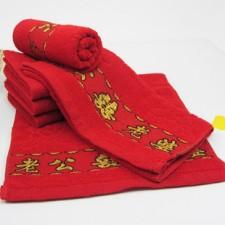 【3301-3-老公老婆】纯棉婚庆毛巾  纯棉红毛巾喜庆回礼毛巾批发