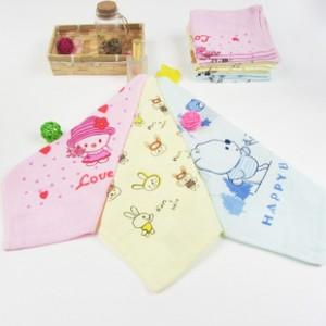 【6111-印花纱布方巾】100%棉 纱布 卡通图案 不掉毛