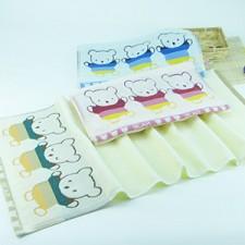 【6262-三只熊童巾】洁丽雅同款  高档100%棉儿童小毛巾