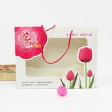 【4355-郁金香双条盒】双条包装盒 毛巾纸盒包装