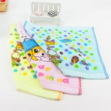 【6161-弱捻印花方巾】儿童小方巾 幼儿园专用