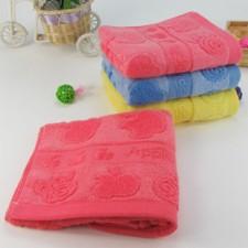 【6342-苹果竹纤维毛巾】专供超市货源 竹纤维  超柔超厚