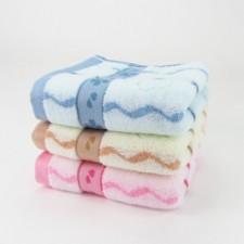 【6391 水纹毛巾】中档纯棉竹纤维加厚毛巾