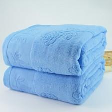 【6902-玫瑰花单人毛巾被】加厚加大 成人单人毛巾被