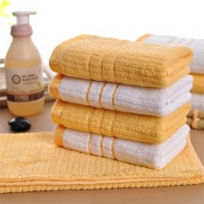 【6310-纯棉金丝带毛巾】 宾馆酒店毛巾 一次性毛巾