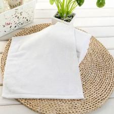 【B001方巾】酒店用白色小方巾全棉小毛巾餐厅擦手抹布 宾馆KTV白方巾厂家批发