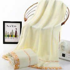【6515-祥云浴巾】超市专供 纯棉加厚加柔成人大浴巾