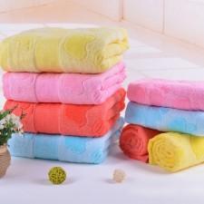 【6517 苹果竹纤维浴巾】超市专供 竹纤维加棉成人大浴巾