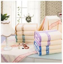 【6905-几何图案单人毛巾被】 32股100%棉单人毛巾被