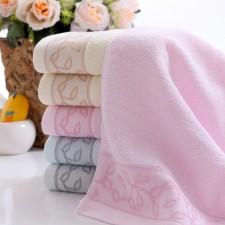 【6389-3-波浪叶毛巾】棉 超柔面巾 礼品毛巾