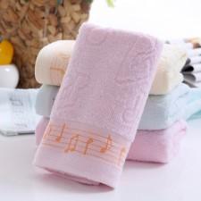 【6389-1-音乐符毛巾】棉 超柔面巾 礼品毛巾