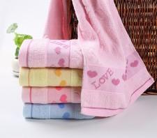 【6308-2-LOVE毛巾】 纯棉提花面巾 超市促销礼品赠品