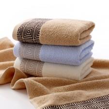【6355  回字格竹纤维毛巾】大朴同款  竹纤维   超厚 超市特供