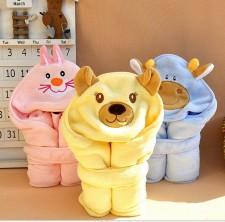 【9358- 韩国信封式抱被】 婴儿抱毯 浴巾 盖毯
