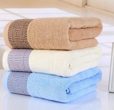 【6559 回字格竹纤维浴巾】100%竹纤维 大浴巾 超市特供 加厚加大 礼品赠品套巾 抗菌