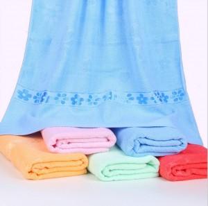 【6551 百合花浴巾】 纯棉超市特供 礼品浴巾 成人大浴巾