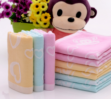 【6264 兔子双层纱布童巾】 100%棉两层纱布 超市 婴幼儿系列