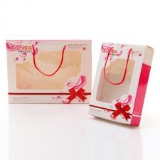 【4384-红丝带手提单条盒】