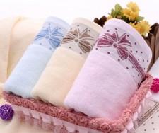 【6389-6-蝴蝶结毛巾】棉 超柔面巾 礼品毛巾