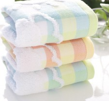 【6265-小鲸鱼双层童巾】洁丽雅同款 棉 超柔 婴儿小毛巾
