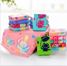 【6263-三层布艺童巾】100%棉 洗脸小毛巾 童巾 超市高端 日系精品
