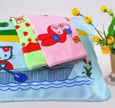 【Z8301 超细纤维包边印花枕巾】超细纤维 促销 地摊专卖