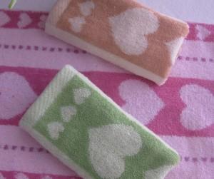 【6268-爱心色织弱捻童巾】纯棉童巾 小毛巾 促销 福利专用