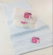 【6471-可爱熊竹纤维毛巾】厂家直销 竹纤维提花加厚毛巾 超市高端