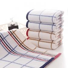 【5012-方格线条毛巾】厂家直销 超强吸水舒适毛巾 纯棉面巾