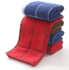 【6216-深色大方格毛巾】厂家直销 纯棉 超市高端深色毛巾