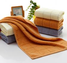 【6218-无捻格子毛巾】厂家直销 加厚 劳保 超市高端毛巾