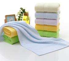 【6219-素色竖条毛巾】厂家直批无捻素色毛巾纯棉 超市高端毛巾