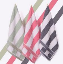 【5028-英伦条纹方巾】厂家直销100%纯棉柔软吸水方巾