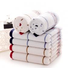 【5011-方格线条方巾】厂家直销经典纯棉线条方格毛巾礼品福利