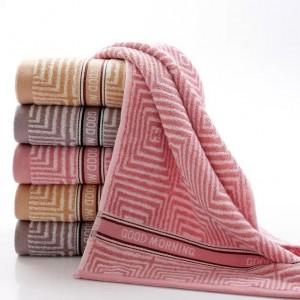 【6335-早安毛巾】厂家直销32股纯棉毛巾商超福利劳保馈赠广告可定制LOGO