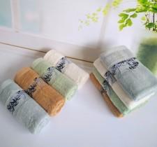 【7003-墨竹竹纤维毛巾】竹纤维毛巾厂家直销墨竹提花竹叶毛巾天然抗菌成人面巾特价批发