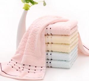 【6363-鹅卵石无捻毛巾】厂家直销 优质无捻纯棉毛巾 吸水柔软定制 热销批发劳保福利