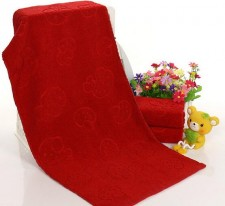 【3302-蘑菇平楼红色毛巾】厂家直销纯棉提花红蘑菇婚庆毛巾福利劳保礼品赠品促销回礼面巾