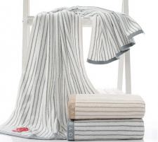 【5019-经典条纹纯棉浴巾】厂家直销 全棉加厚吸水浴巾 柔软舒适成人浴巾