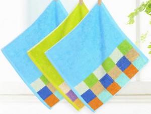 【6113-纯棉彩格方巾】厂家直销 纯棉面巾柔软舒适吸水加厚洗脸 礼品专供