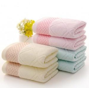 【6491-菱形块股纱澡巾】厂家直销 纯棉加大澡巾吸水 素色菱形格32股大澡巾