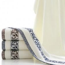 【6568-青花瓷浴巾】厂家直销 纯棉青花瓷浴巾 创意礼品加厚浴巾批发定制logo