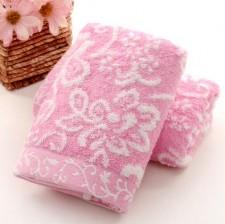 【6650-雪花竹纤维童巾】厂家直销竹纤维无捻纱提花 童巾婴幼儿擦嘴巾礼品批发