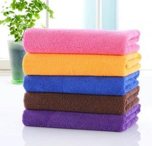 【8183-超细纤维25*50】厂家直销 超细纤维25x50 儿童小毛巾 口水巾 幼儿园福利