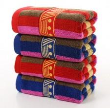 【9107-AB纱彩条毛巾】厂家批发深色彩条家用洗脸毛巾 加厚擦手毛巾 可定制logo