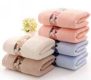 【6620-几何纯棉毛巾】厂家直销 加厚纯棉吸水毛巾 商超 福利 可定制LOGO