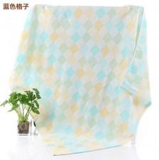【8003-纱布彩格童被】纯棉纱布浴巾双层彩格纯棉婴幼儿童抱被