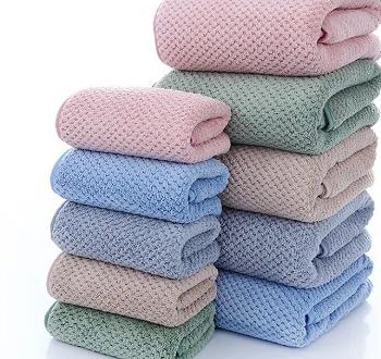 9382-蜂窝超柔素色毛巾
