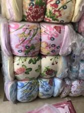 kc9042404---库存双层纱布印花浴巾1000条现货